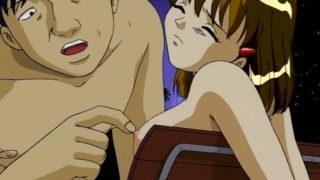 Horny hentai dude fucks his girlfriend in the park
